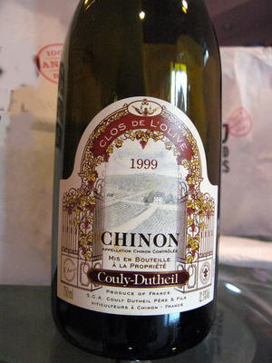Couly-Dutheil Chinon Clos de l'Olive 1999 (Loire Valley)