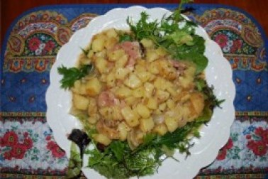 A Geneva Christmas-white wine potatoes-Longeole-recipe-Switzerland-the rambling epicure-jonell galloway-genevalunch-traditional dish