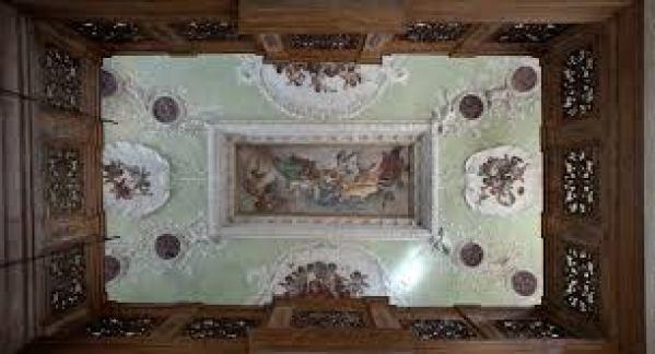 Palezzetto Bru Zane, French Romantic Music, ceiling, Venice, italy
