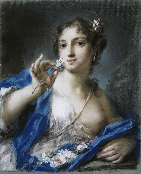 Spring, 1720s. Artist- Carriera, Rosalba Giovanna (1657-1757) Photo by Heritage Images on Getty Images