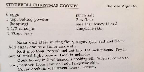 Stuffoli Recipe Theresa Argento New Haven Church Cook Book