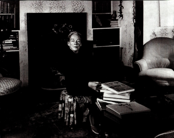 Leo Racicot MFK Fisher with Books