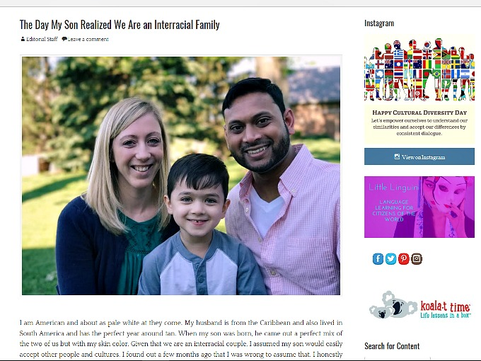 RWC Articles: The Day My Son Realized We Were An Interracial Family