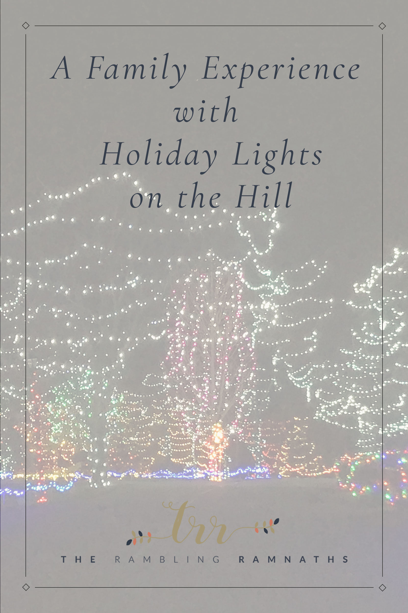 Come experience Pyramid Hill Sculpture Park's Holiday Lights on the Hill with us! It's a place where you can drive through and look at Christmas lights located in Hamilton Ohio. It makes for a fun family night and it's a great way to really get into the holiday spirit!