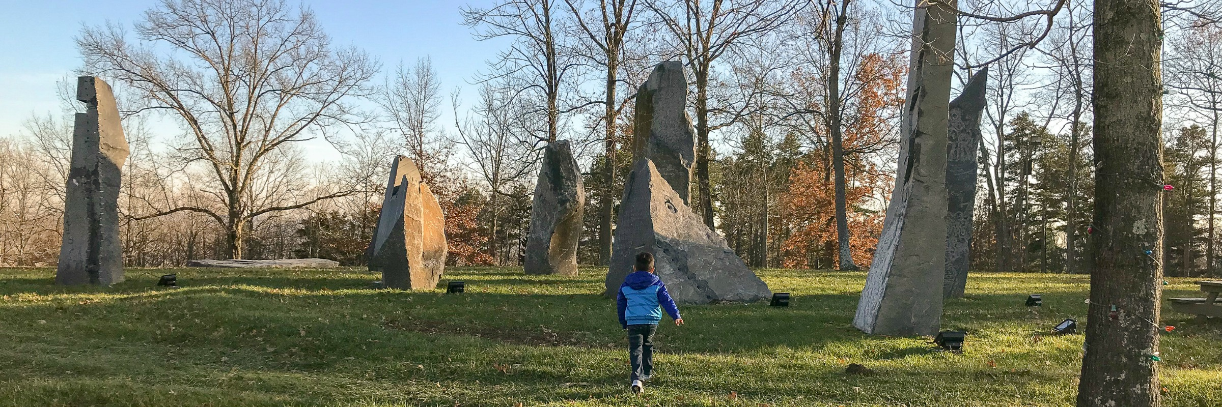 Logan at Pyramid Hill Sculpture Park