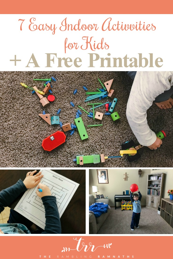 Here are 7 fun screen-free activities for kids on those cold snowy or rainy days! Plus there is a free printable maze worksheet just for you!