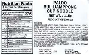 #2483: Paldo Bul Jjamppong - South Korea - The Ramen Rater - instant noodles - ramyun - spicy seafood