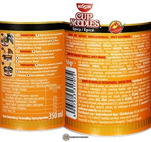 Meet The Manufacturer: #2497: Nissin Cup Noodles Spicy - Germany - The Ramen Rater - instant noodles