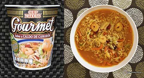 #1: Nissin Cup Noodles Gourmet Sabor A Caldo De Camaron - Mexico - The Ramen Rater - instant noodle cups