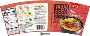 Meet The Manufacturer: #2789: Mike's Mighty Good Craft Ramen Spicy Beef Flavor Ramen Soup