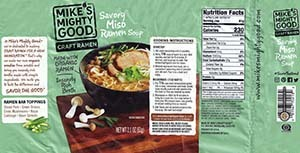 Meet The Manufacturer: #2790: Mike's Mighty Good Craft Ramen Savory Miso Ramen Soup