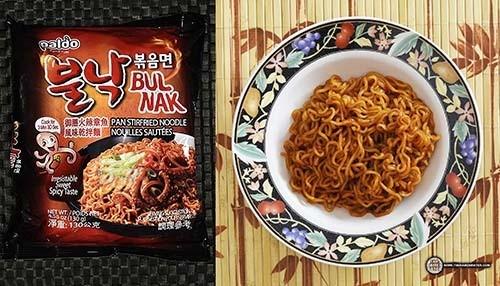 spiciest instant noodles #6: Paldo Bulnak Bokkummyun Spicy Fried Octopus Ramyun – South Korea