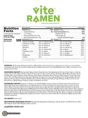 Meet The Manufacturer: #3015: Vite Ramen Vegan Mushroom Shio - United States