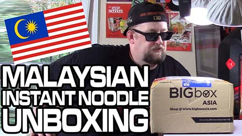 Mystery Box Of Spicy Instant Noodles From Malaysia - Unboxing Time