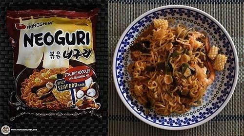 Best Korean Ramen - Nongshim Neoguri Stir-fry Noodles Spicy Seafood