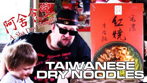 A-Sha Dry Noodle Beef Noodle & Spicy Scallion from Taiwan | Unboxing Time