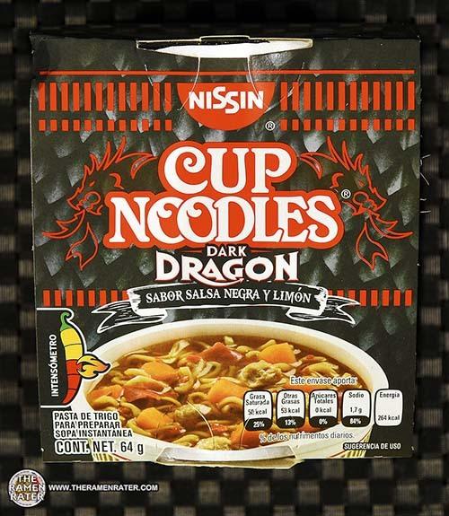 #3329: Nissin Cup Noodles Dark Dragon Sabor Salsa Negra Y Limon - Mexico