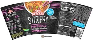 #3384: Nissin Cup Noodles Stir Fry Sweet Chili Flavor - United States