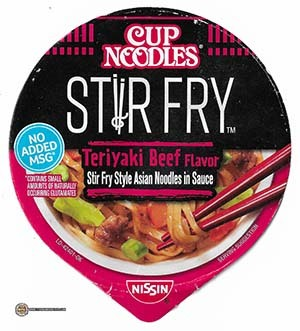 #3372: Nissin Cup Noodles Stir Fry Teriyaki Beef Flavor - United States