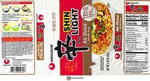 #3451: Nongshim Shin Light Air Dried Noodle Soup - South Korea