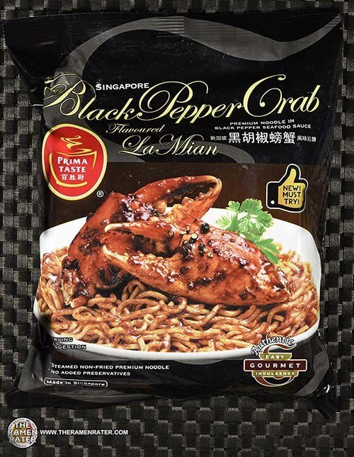 Prima Taste Singapore Black Pepper Crab Flavoured La Mian - Singapore