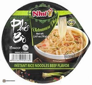 #3495: Nhu Vietnamese Pho Instant Rice Noodles Beef Flavor - Vietnam