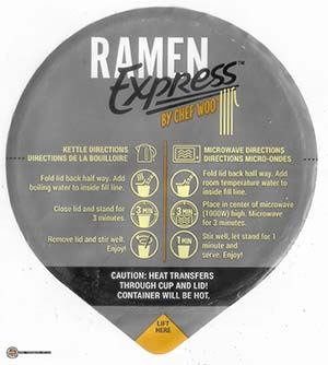 Meet The Manufacturer: #3669: Ramen Express By Chef Woo Hotter & Spicier - United States