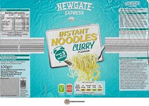 #3745: Newgate Express Instant Noodles Curry Flavour - Ireland