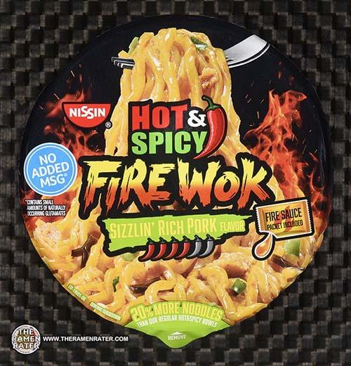 #3833: Nissin Hot & Spicy Fire Wok Sizzlin' Rich Pork Flavor - United States
