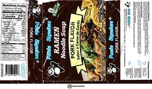 #3853: Panda Signature Ramen Noodle Soup Pork Flavor - United States
