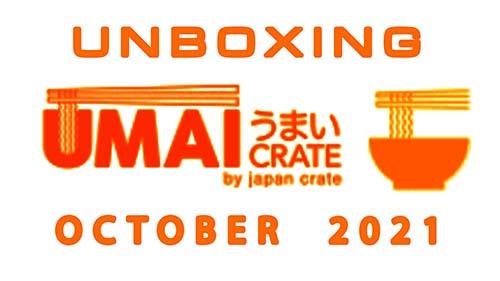 Umai Crate Japanese Instant Ramen Noodle Subscription Box - October 2021