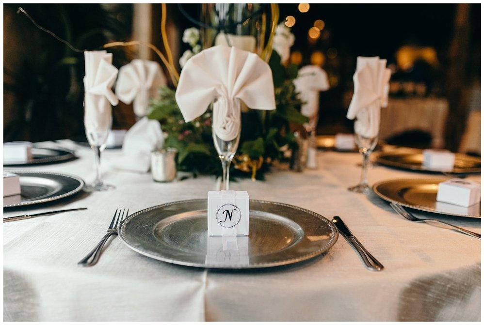 Table settings at Agave Estates Wedding