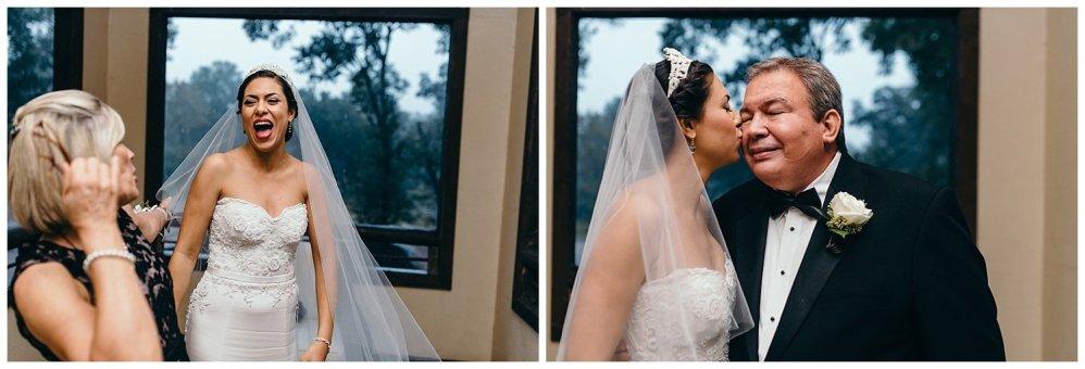 Bride sees family members