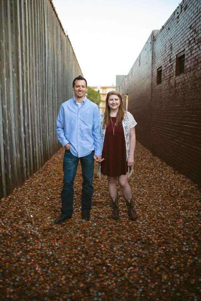 bottlecap alley engagement pictures