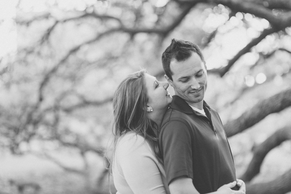 college station century tree engagement pictures