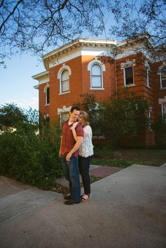downtown bryan engagement pictures