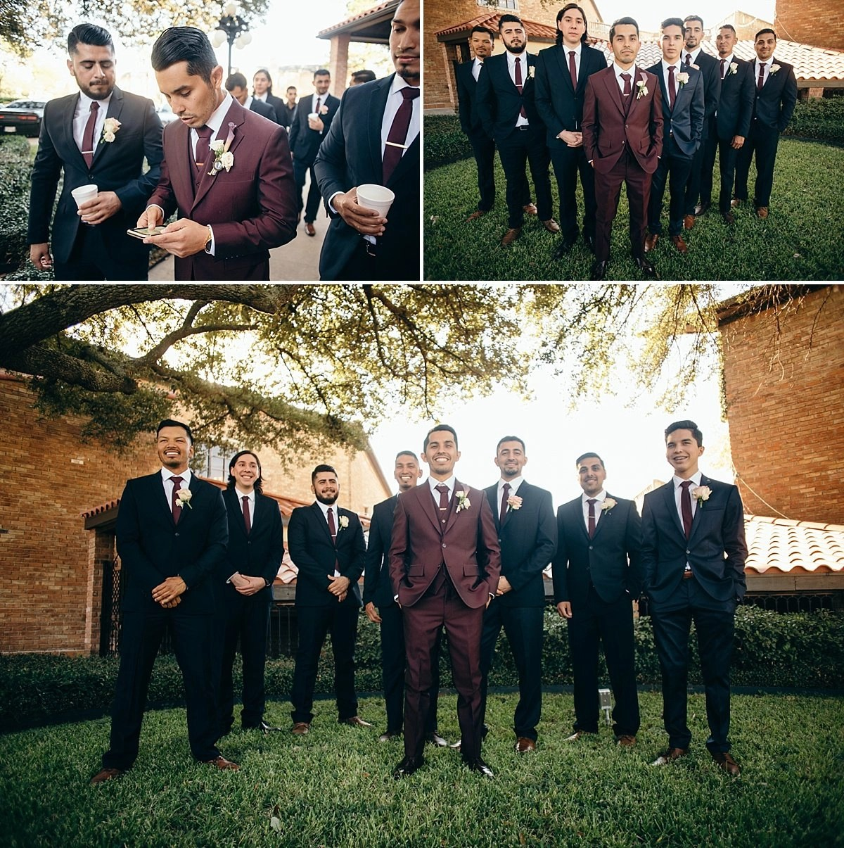 groomsmen portraits at the gallery houston