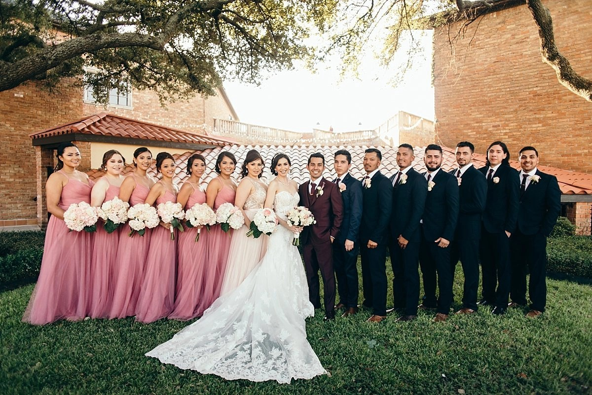 bridal party portraits at the gallery houston