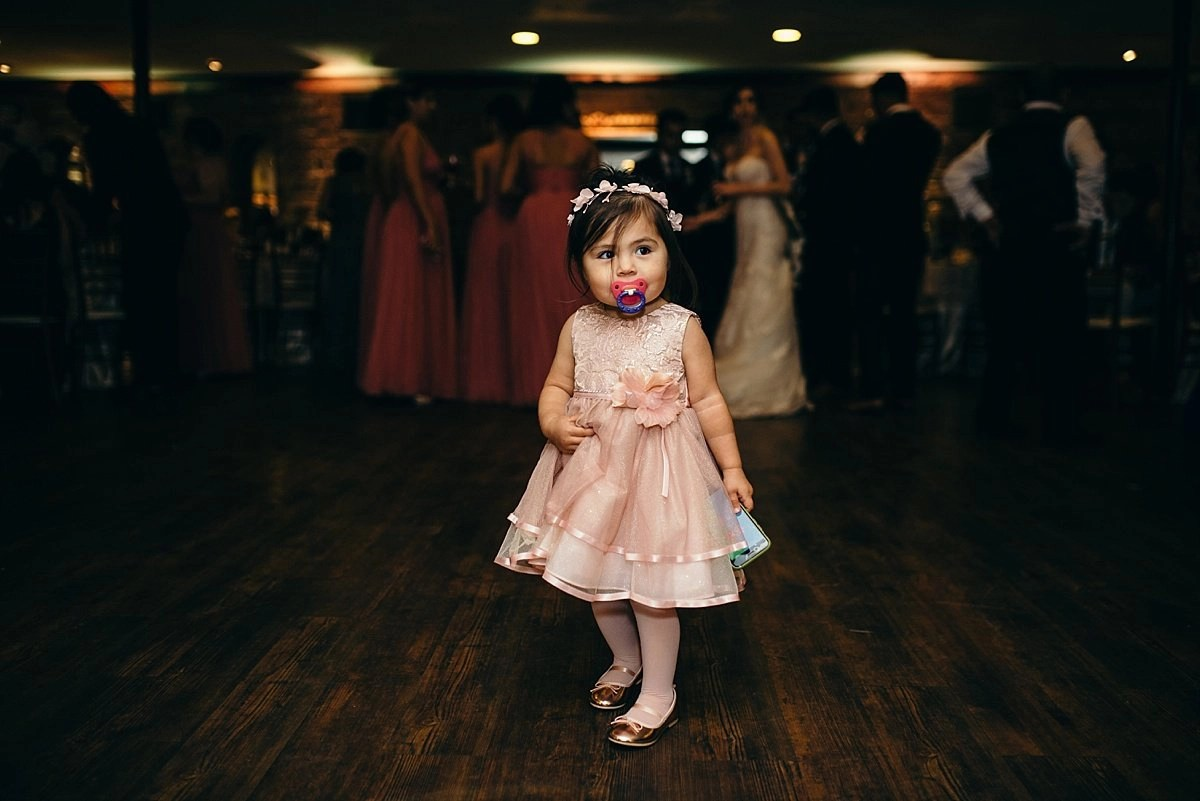 flower girl at reception