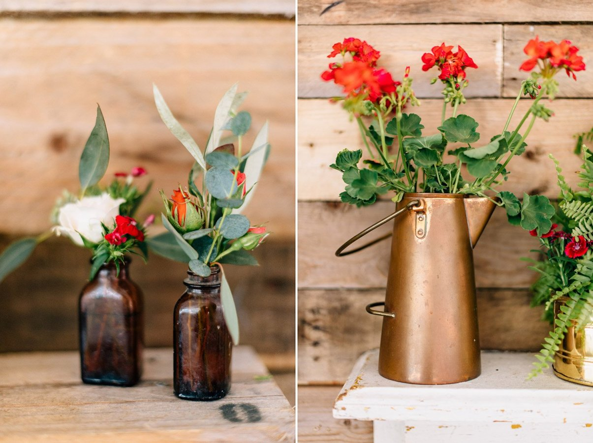 wedding flowers at reception