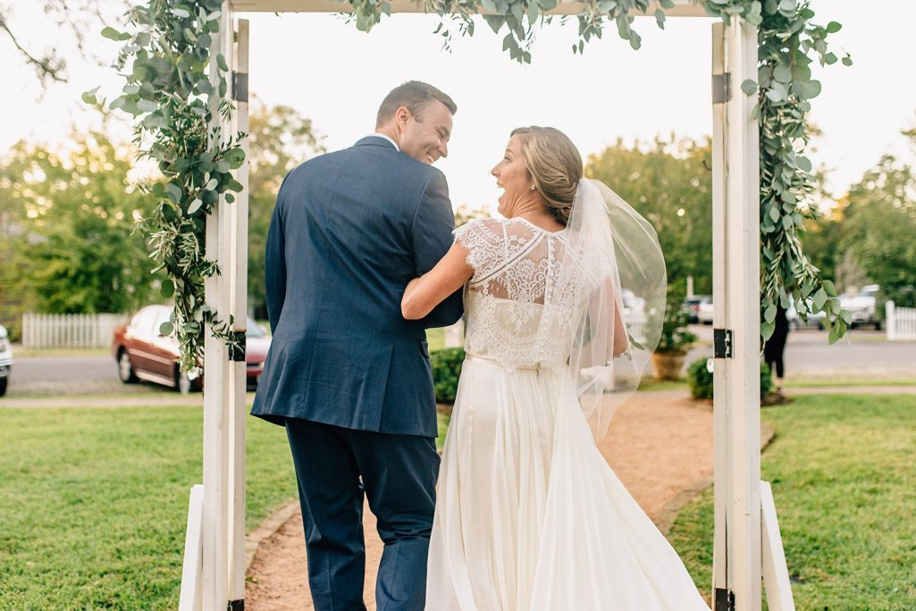 excited wedding recessional