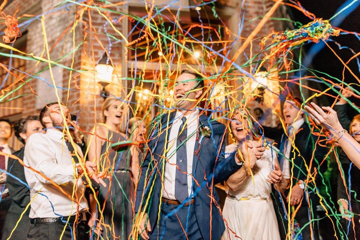 streamer wedding exit