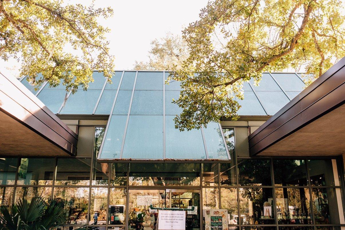 entrance of Houston arboretum