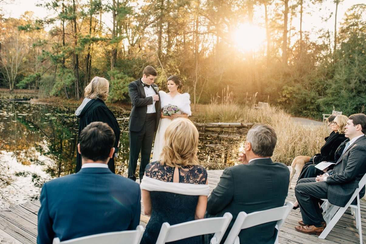 bride and groom during elopement