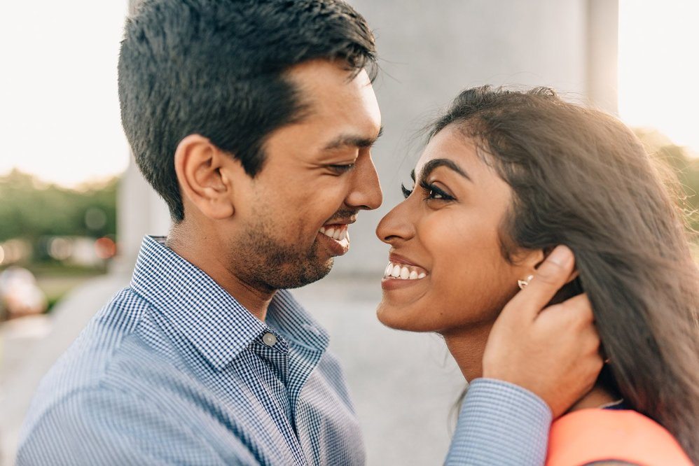 couple looking into each other's eyes