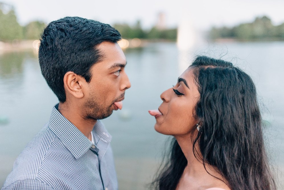 silly engagement picture