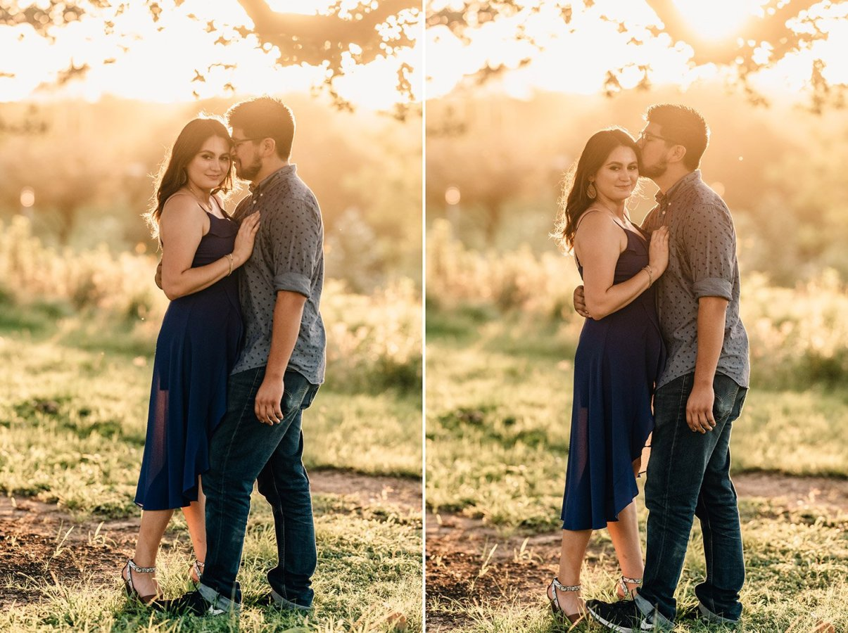 beautiful golden hour engagement picture
