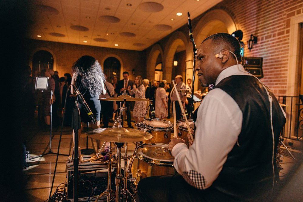 drummer of a wedding band