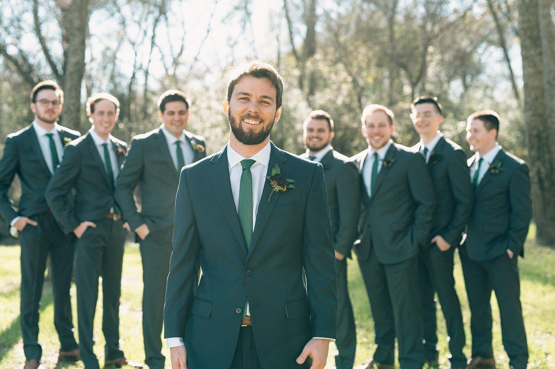 groomsmen and groom portrait