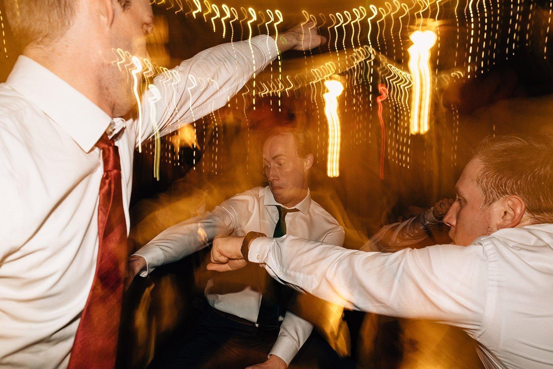 shutter drag at wedding reception